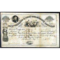 New Orleans & Ohio Telegraph Lessess, Issued Stock.