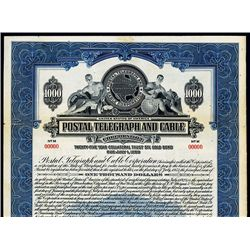 Postal Telegraph and Cable Corp., Specimen Bond.