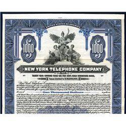 New York Telephone Co., Specimen Bond.