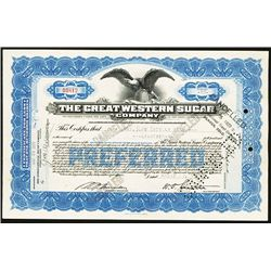 Great Western Sugar, 1928, Issued Stock.