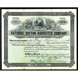 National Cotton Harvester Co. Issued Stock