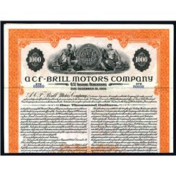 ACF-BRILL Motors Co., Specimen Bond.