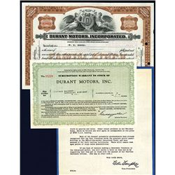 Durant Motors, Inc., Issued Stock.