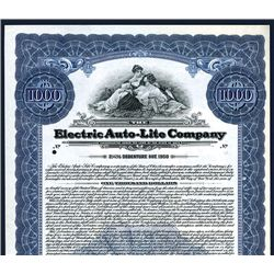 Electric Auto-Lite Co., Specimen Bond.