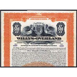 Willys-Overland Co. Specimen Bond.