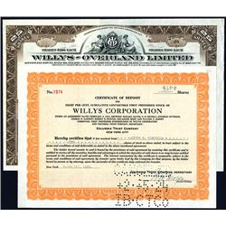 Willys-Overland Ltd & Willys Corp., Issued Stocks Lot of 2.