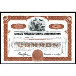 Aireon Manufacturing Corp., Issued Stock.