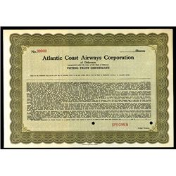 Atlantic Coast Airways Corp., Specimen Stock.