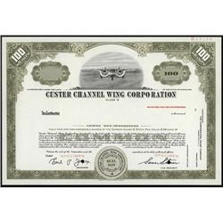 Custer Channel Wing Corp., Specimen Stock.