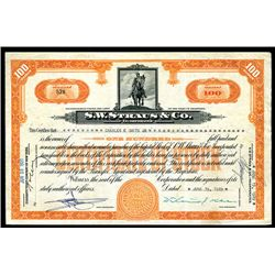 S.W. Straus & Co., Issued Stock.