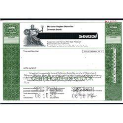 Shearson Hayden Stone Inc., Specimen Stock.