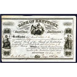 Bank of Kentucky Issued Stock.