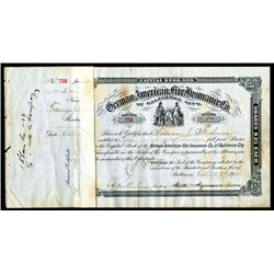 German-American Fire Insurance Co. Issued Bonds Lot of 110.