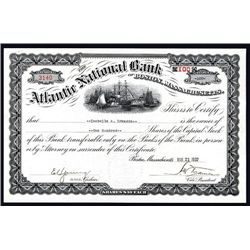 Atlantic National Bank of Boston, Massachusetts Issued Stock.