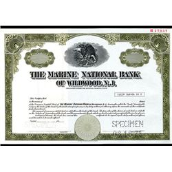 Marine National Bank of Wildwood New Jersey, Specimen Stock.