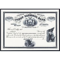 First National Bank of Batavia, Proof Stock.