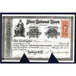 First National Bank of Hudson Issued Stock.