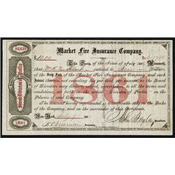 Market Fire Insurance Co., 1861, Issued Bond.