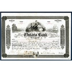 Ontario Bank Issued Stock.
