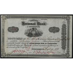 Second National Bank of Cooperstown, Issued Stock.