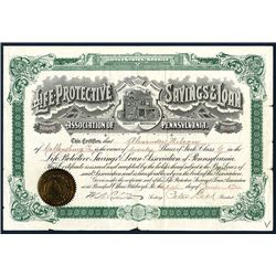 Life-Protective Savings & Loan Ass. Of Pennsylvania, Issued Stock.