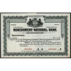 Montgomery National Bank, Specimen Stock.
