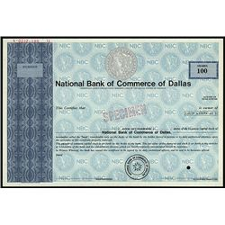 National Bank of Commerce of Dallas Specimen Stock.