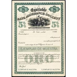 Equitable Life Assurance Society Spanish Version Specimen Bond.