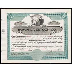 Bown Livestock Co., Issued Stock.