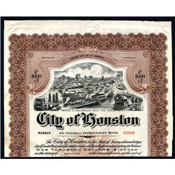 City of Houston, Specimen Bond.