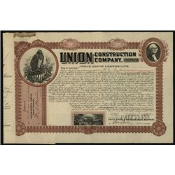 Union Construction Co., Issued Stock.
