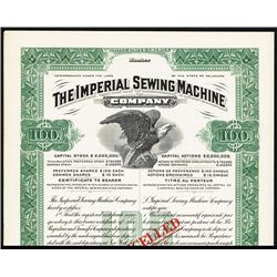 Imperial Sewing Machine Co. Specimen Bond.