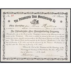 Philadelphia Shoe Manufacturing Co. Issued Stock.