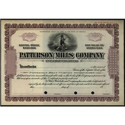 Patterson Mills Co. Specimen Stock.