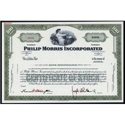 Philip Morris Inc. Specimen Stock.