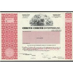 Circus Circus Enterprises, Inc., Specimen Stock.