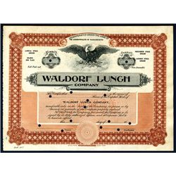 Waldorf Lunch Co., Specimen Stock.