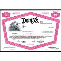 Denny's Inc., Specimen Stock.