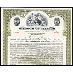 Kingdom of Belgium Specimen Bond.
