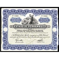 Estado de Pernambuco Issued Bond.