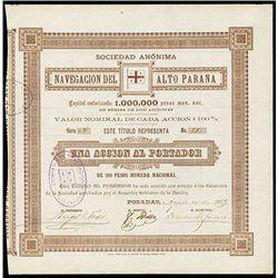 Navegacion del Alto Parana, Issued Bond.