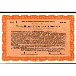 Cuba Hydro-Electric Co., Specimen Bond.