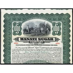 Manati Sugar Co. Specimen Bond.