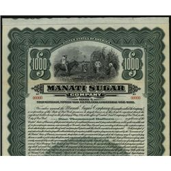 Manati Sugar Co., Specimen Bond.