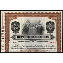 Republica de Cuba Specimen Bond.