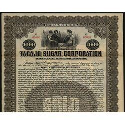 Tacajo Sugar Corp., Specimen Bond.