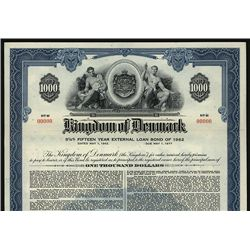 Kingdom of Denmark Specimen Bond.