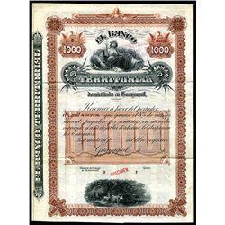 Banco Territorial Specimen Bond.