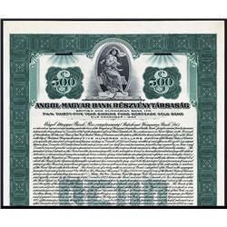Angol-Magyar Bank Reszvenytarsasag Specimen Bond.