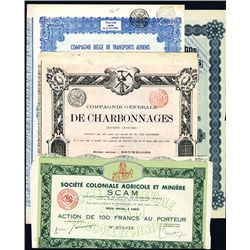 European Assortment of Bonds, Lot of 21.